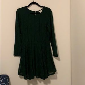 Forest green lace Zara dress, lightly worn.